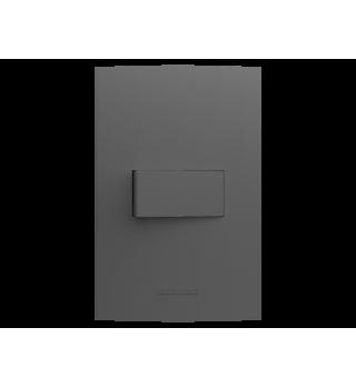 Conj 1 tecla simples 2x4 - Alumbra Linha Inova Pro Class - Grafite