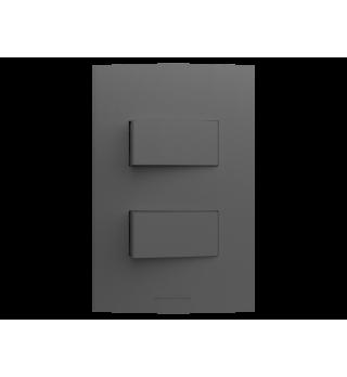 Conj 2 teclas simples 2x4 - Alumbra Linha Inova Pro Class - Grafite